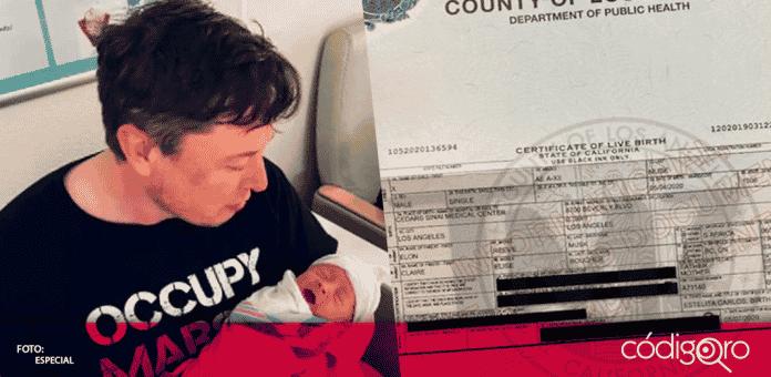 X AE A-XII Musk es el nombre legal del primer hijo de Elon Musk y la cantante Grimes
