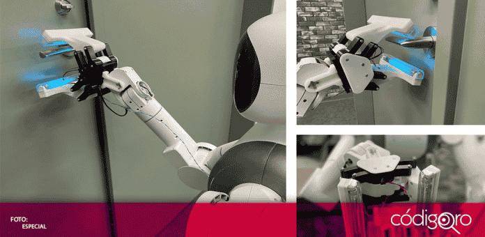 La compañía Mira Robotics ha desarrollado recientemente una mano robot, equipada con una función de esterilización UV-C (ultravioleta)