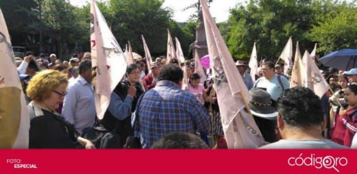 integrantes de la Unidad Cívica Felipe Carrillo Puerto exigieron la reactivación de la economía del comercio informal