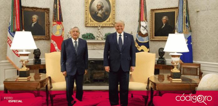 La tarde de este miércoles 8 de julio, el presidente Andrés Manuel López Obrador arribó a la Casa Blanca, donde fue recibido por su homólogo estadounidense, Donald Trump