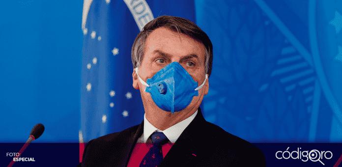 Jair Bolsonaro, presidente de Brasil, anunció que dio positivo a la tercer prueba que se realizo de COVID-19