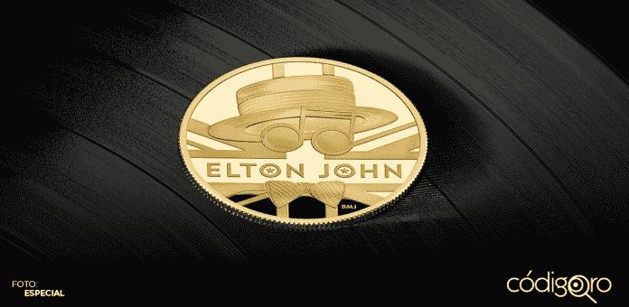 Elton John se convirtió en el segundo artista en ser honrado por la Royal Mint del Reino Unido con una moneda conmemorativa a manera de homenaje por su carrera