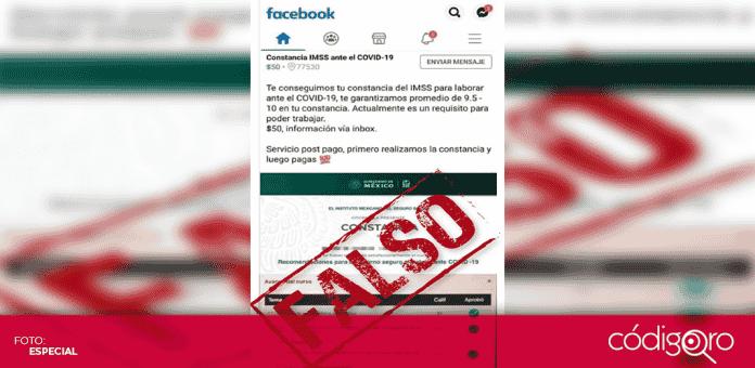 El Instituto Mexicano del Seguro Social (IMSS) alertaron sobre la venta fraudolenta de constancias de cursos COVID-19