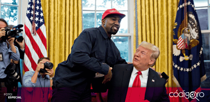 El rapero Kanye West dio a conocer que ya no es partidario de Donald Trump