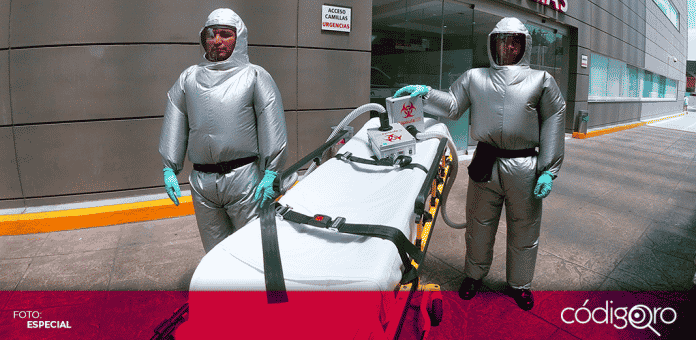 XE Médica Ambulancias, una empresa médica mexicana, creó unos trajes inflables especiales anti COVID-19