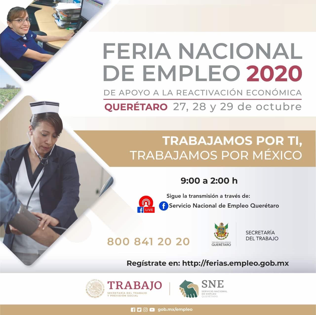 Querétaro participa en Feria Nacional de Empleo 2020