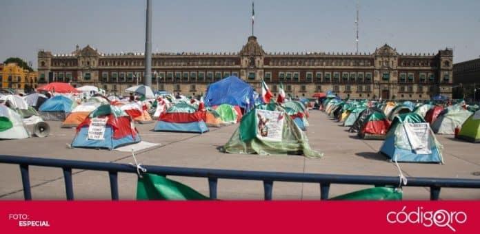 Los integrantes de FRENA decidieron retirar su campamento del Zócalo de la Ciudad de México. Foto: Especial