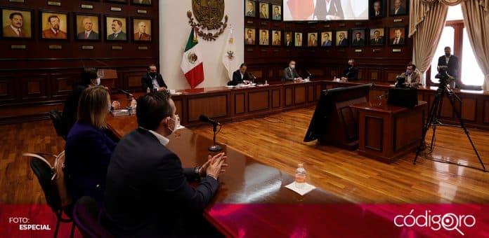 El gobernador de Querétaro, Francisco Domínguez Servién, anunció una inversión de la empresa brasileña ODATA. Foto: Especial