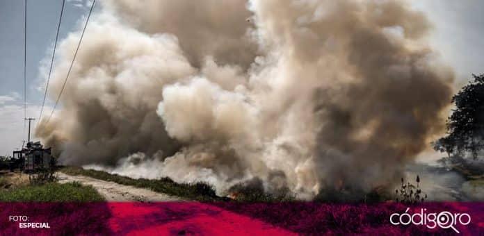 La Unidad Municipal de Protección Civil de Querétaro atendió 500 incendios de lotes baldíos menos durante este año. Foto: Especial