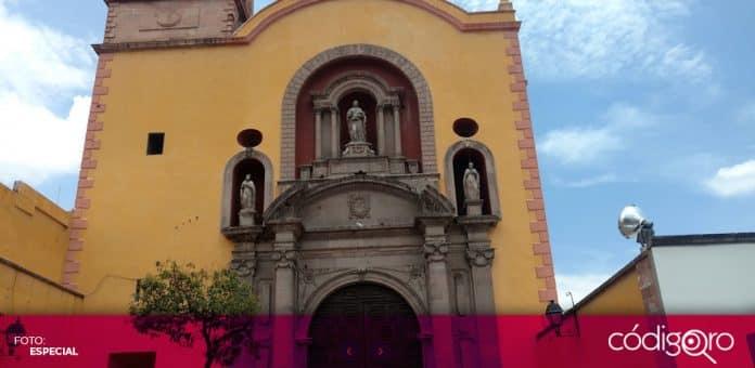 Dos personas robaron las alcancías con limosnas del Templo de La Merced. Foto: Especial