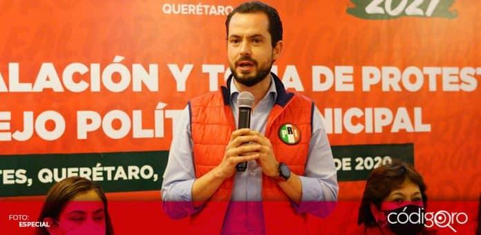 El dirigente estatal del PRI en Querétaro, Paul Ospital, desestimó las acusaciones de Rosario Robles contra Luis Videgaray. Foto: Especial
