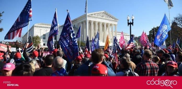 Miles de seguidores de Donald Trump y partidarios de la extrema derecha marcharon por las calles de Washington. Foto: Especial