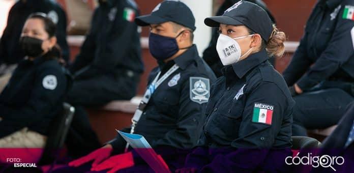Un total de 240 nuevos policías se han sumado a las tareas de seguridad en el estado de Querétaro. Foto: Especial