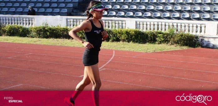 La atleta queretana Daniela Torres buscará mejorar su marca en la prueba de los 5 mil metros. Foto: Especial