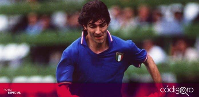 El delantero italiano Paolo Rossi, figura de la Copa Mundial de Futbol España 1982, murió a los 64 años. Foto: Especial