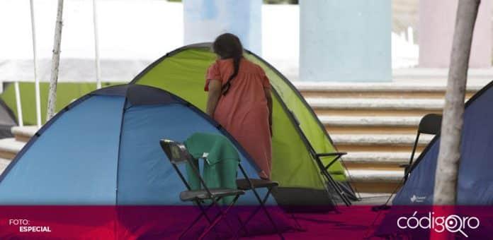 Un total de 7 personas más son atendidas en el albergue habilitado en el Parque Alcanfores. Foto: Especial