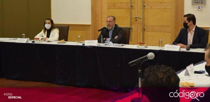 El secretario de Desarrollo Sustentable, Marco Antonio Del Prete Tercero, se reunió con la Red de Clústers. Foto: Especial