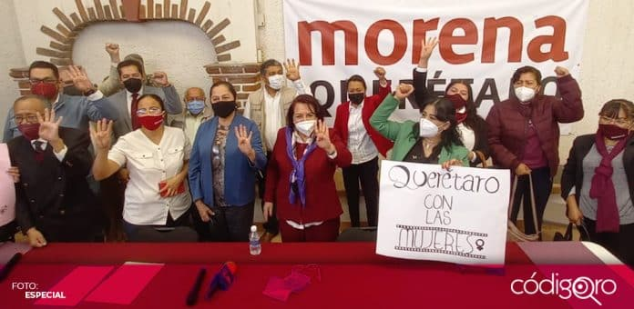Celia Maya García solicitó su registro como precandidata de Morena a la gubernatura del estado de Querétaro. Foto: Especial