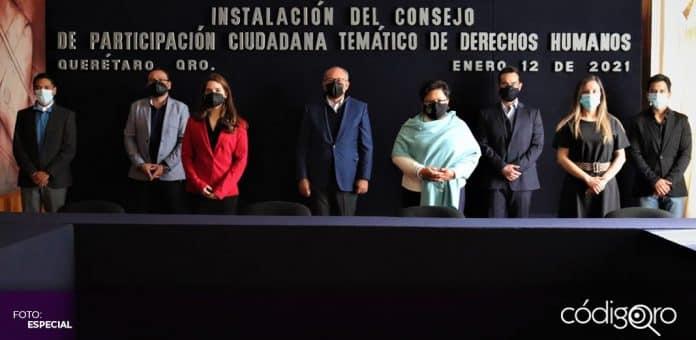 Fue instalado el Consejo de Participación Ciudadana en materia de Derechos Humanos. Foto: Especial