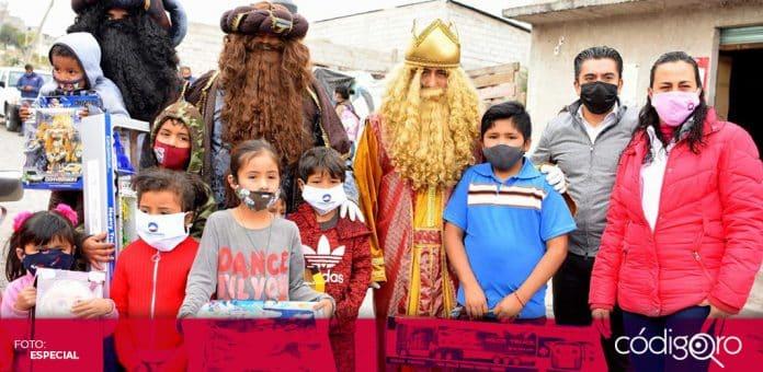El DIF Municipal de Corregidora entregó mil 500 juguetes a niños con motivo del Día de Reyes. Foto: Especial