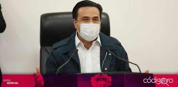 El alcalde de Querétaro, Luis Bernardo Nava Guerrero, anunció apoyos para 457 condominios. Foto: Especial