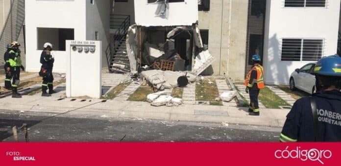 En una casa de la colonia Los Encinos, El Marqués, se registró una explosión por acumulación de gas. Foto: Especial
