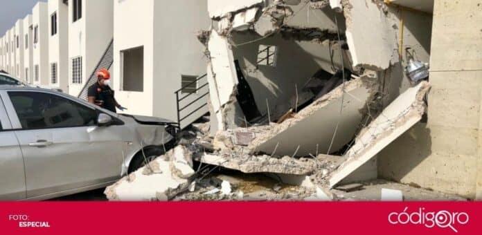 En la colonia Los Encinos, ocurrió una explosión por acumulación de gas. Foto: Especial