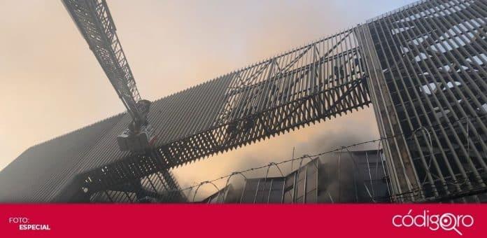 Un incendio se registró en el Centro de Control del Metro de la Ciudad de México. Foto: Especial