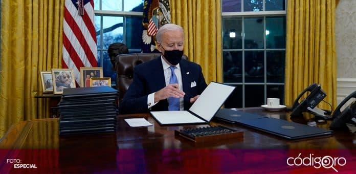 El presidente de Estados Unidos, Joe Biden, decretó el regreso de la Unión Americana al Acuerdo de París. Foto: Especial