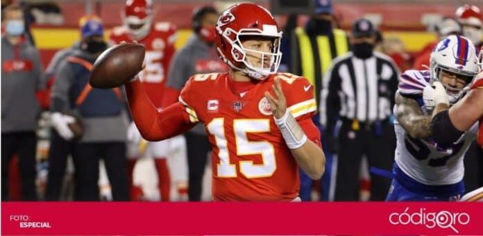 Patrick Mahomes y los Chiefs de Kansas City defenderán su título en el Super Bowl LV. Foto: Especial