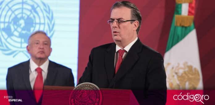 El secretario de Relaciones Exteriores, Marcelo Ebrard, resultó negativo a la prueba de COVID-19. Foto: Especial