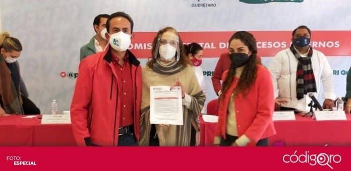La diputada federal del PRI, María Alemán, buscará la candidatura del PRI a la presidencia municipal de Querétaro. Foto: Especial
