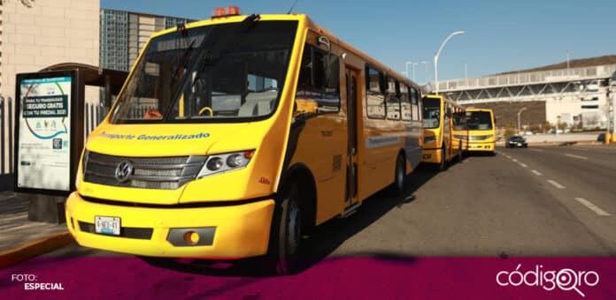 Autoridades municipales de Querétaro pusieron en marcha del Programa de Transporte Generalizado. Foto: Especial