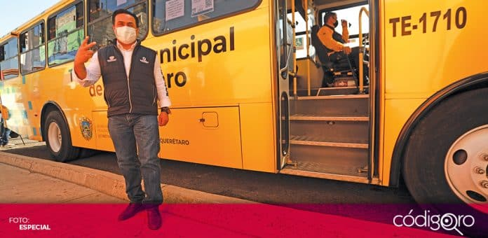 El alcalde de Querétaro, Luis Bernardo Nava Guerrero, puso en marcha una nueva ruta de