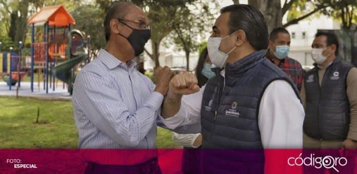 El presidente municipal de Querétaro, Luis Bernardo Nava Guerrero, entregó el parque de la colonia Mansiones del Valle