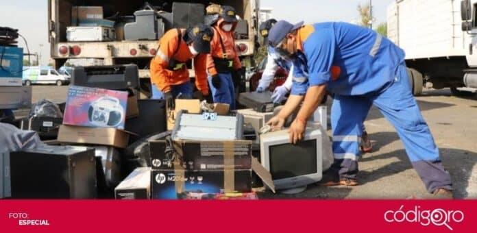 La Secretaría de Servicios Públicos Municipales de Querétaro recaudó más de 70 toneladas de residuos eléctricos y electrónicos. Foto: Especial
