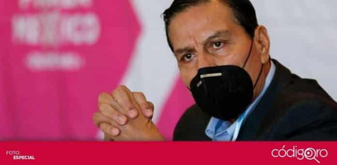 José Luis Aguilera Ortiz, dirigente estatal de Fuerza por México en Querétaro, anunció sus candidaturas a presidencias municipales y diputaciones locales. Foto: Especial