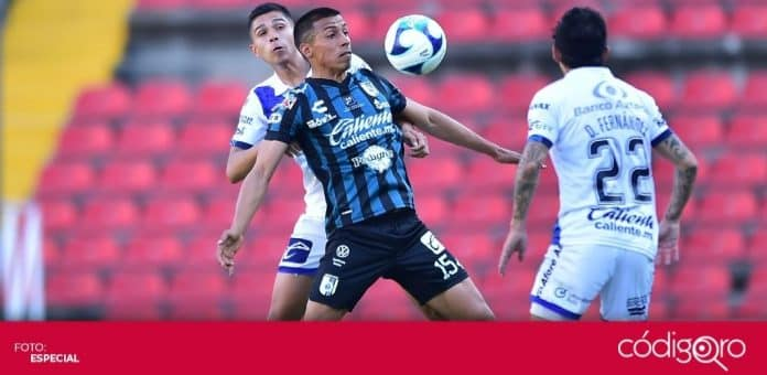 Los Gallos Blancos de Querétaro empataron 1-1 frente a Puebla en la cancha del Estadio Corregidora. Foto: Mexsport