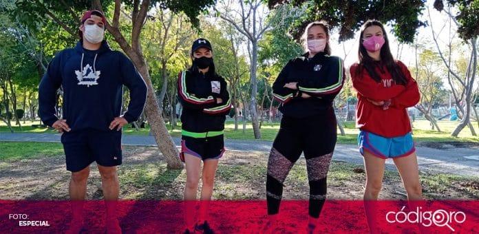 Tres jugadoras queretanas integran la preselección mexicana de hockey sobre hielo. Foto: Especial