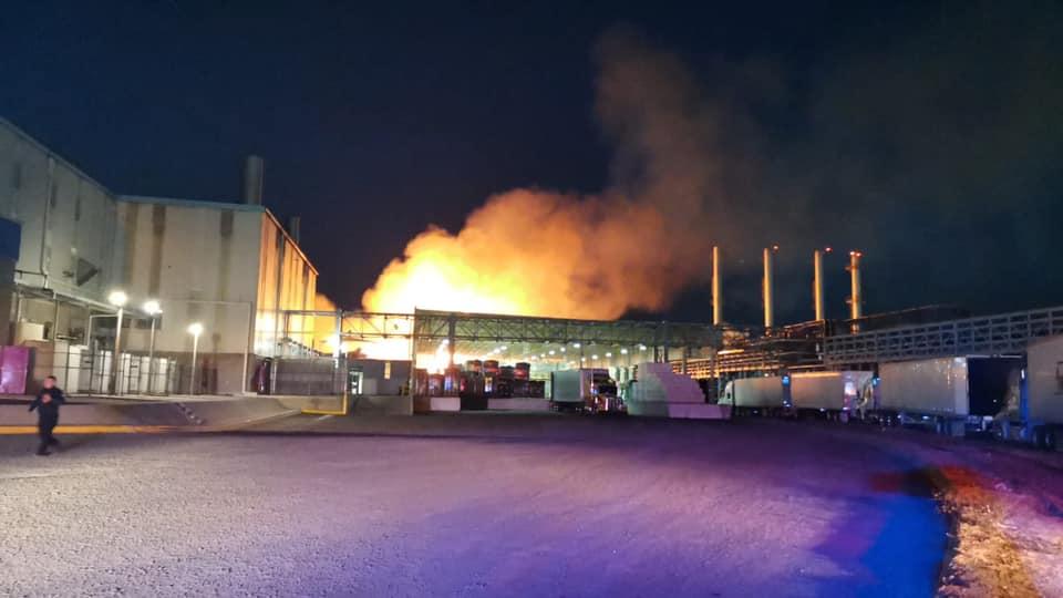 Se registra incendio en la empresa Kimberly Clark de SJR