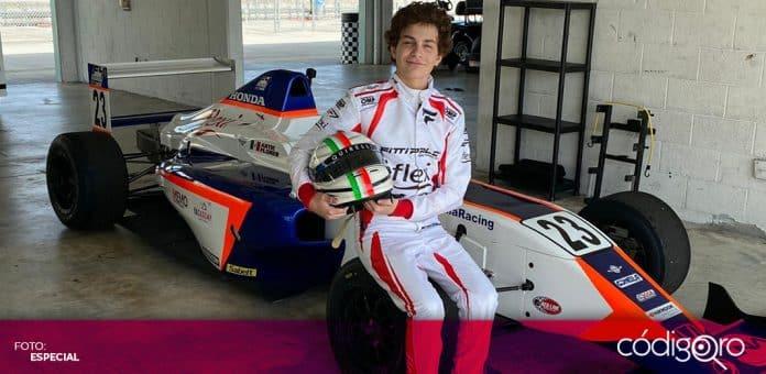 Arturo Flores, piloto mexicano de 15 años, debutará en la F4 United States Championship. Foto: Especial