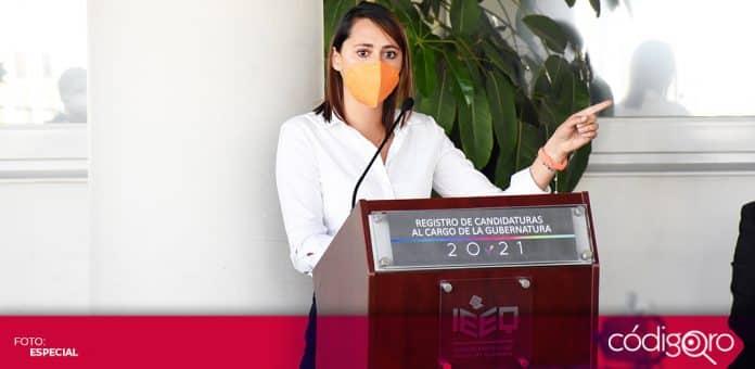 Beatriz León Sotelo se registró como candidata de Movimiento Ciudadano a la gubernatura del estado de Querétaro. Foto: Especial