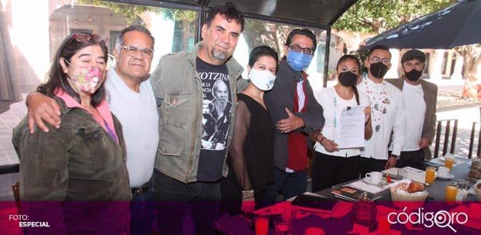 Integrantes de la comunidad artística queretana integraron una coalición para defender sus derechos laborales. Foto: Especial