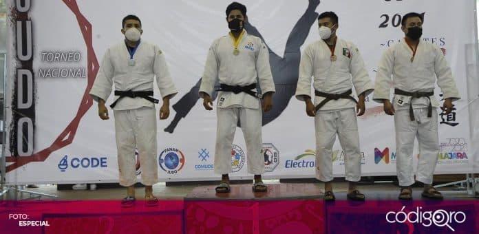 El judoca queretano Gilberto Cardoso Martínez ganó la medalla de oro. Foto: Especial