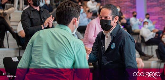 El gobernador Francisco Domínguez Servién encabezó la celebración del décimo aniversario de la Sejuve. Foto: Especial