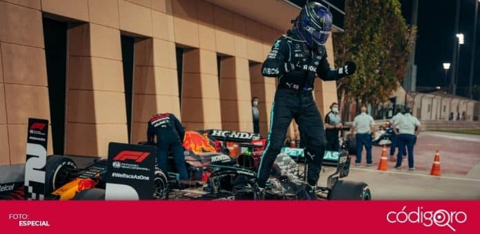 El piloto británico de Mercedes, Lewis Hamilton, ganó el Gran Premio de Bahréin. Foto: Especial