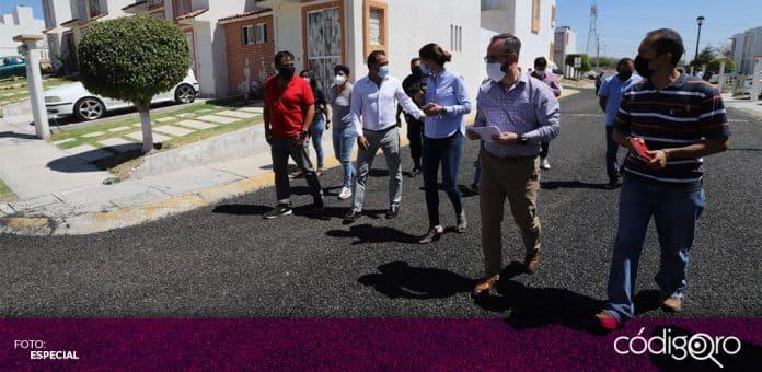 El alcalde interino de Querétaro, Miguel Parrodi, supervisó el avance del programa de dignificación de condominios. Foto: Especial