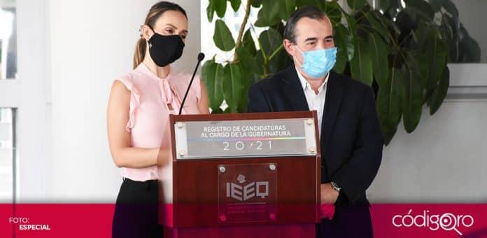 Raquel Ruiz de Santiago Álvarez se registró como candidata del PRD a la gubernatura del estado de Querétaro. Foto: Especial