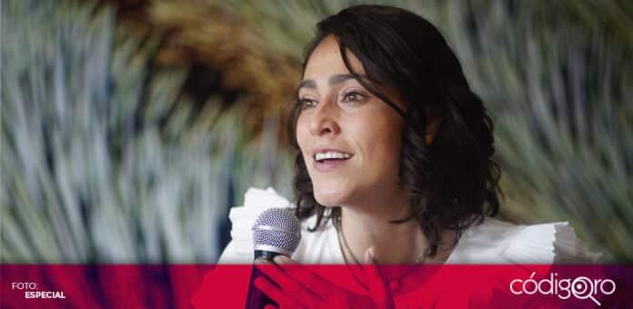 En San Juan del Río, candidata del PRI a la gubernatura de Querétaro, Abigail Arredondo, presentó el programa
