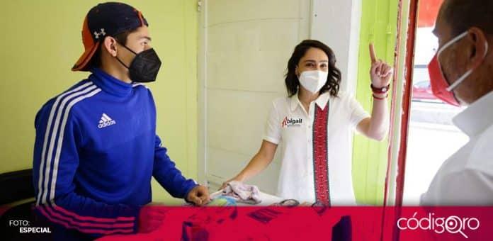 La candidata del PRI a la gubernatura del estado de Querétaro, Abigail Arredondo Ramos, visitó el municipio de San Juan del Río. Foto: Especial